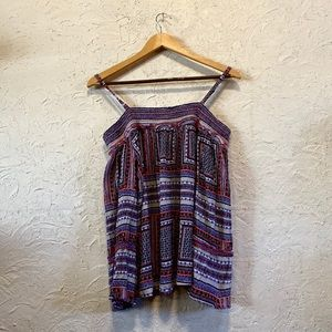 Off the shoulder top with pretty pattern